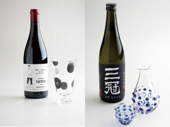 ガラスの酒器&地酒