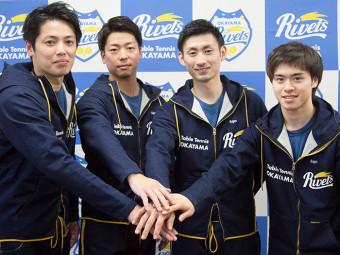 《岡山リベッツ》岡山に登場した卓球のプロチーム。記者会見と公開練習に密着。
