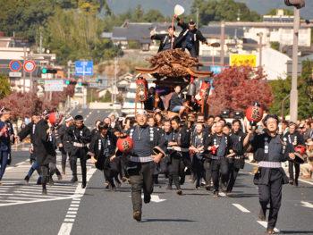 《津山まつり》400年の伝統を持つと伝えられる、秋の津山を代表する勇壮なお祭り。
