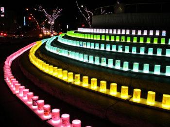 《西大寺ファンタジー》3万球を越えるイルミネーションのきらめきが、「西大寺会陽」の盛り上がりに華をそえる。
