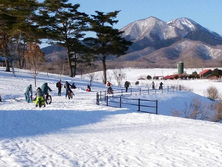 《ファットバイク雪上体験試乗会》話題の「ファットバイク」で、蒜山の雪上を走り抜けよう!