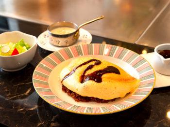 《岡山市/コペン》新感覚! ふわシュワ食感がくせになる、「フワプルスフレオムレツ」を堪能。