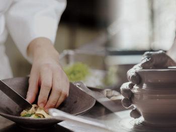 《岡山CLUB RED RESTAURANT》若手のシェフと備前焼作家による新しい「食」文化の創造を目指す。