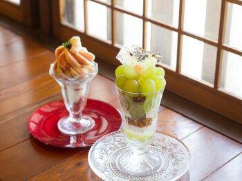 《倉敷市/くらしき桃子 総本店》'19年4月OPEN! 総本店だけでしか味わえない、 最高級のフルーツをバカラの器で提供する極上パフェ。