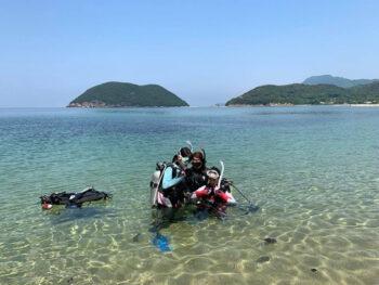 《ゲツナナSTU48 瀬戸内海に潜る。》「STU48」の2人がダイビングに挑戦。海の生き物たちの生態を見て何を感じたのか?!