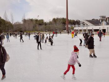 《アイスランド津山》期間限定で『津山陸上競技場』に、屋外スケートリンクが今年もオープン!