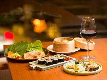 《岡山市/Ri-pa》西川の夜景を見ながら、「ワインに合う」韓国料理に舌鼓。