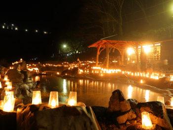 《キャンドルファンタジー in 湯原温泉》キャンドルに花火にマルシェまで。湯原で心まであったまろう。