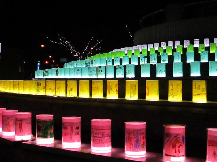 《西大寺 夢灯籠》今年は4万5000球のイルミネーションが点灯!「西大寺会陽」で盛り上がる西大寺を照らす。
