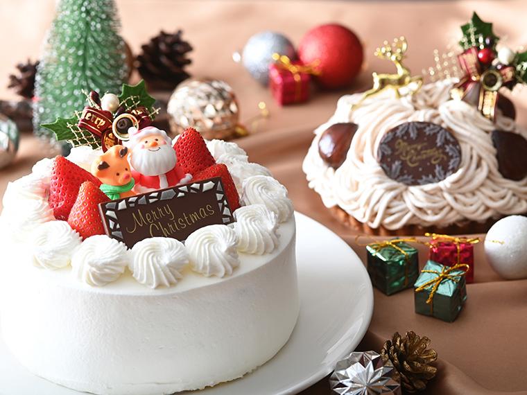 多彩なクリスマスケーキで、大人も子どもも華やぐひとときを。