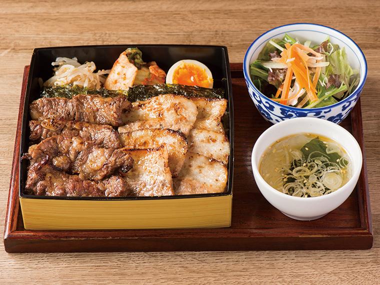 【焼肉食堂 ブリスケ】コスパ抜群のがっつり焼肉定食!  昼も夜も同じ価格で味わえる。